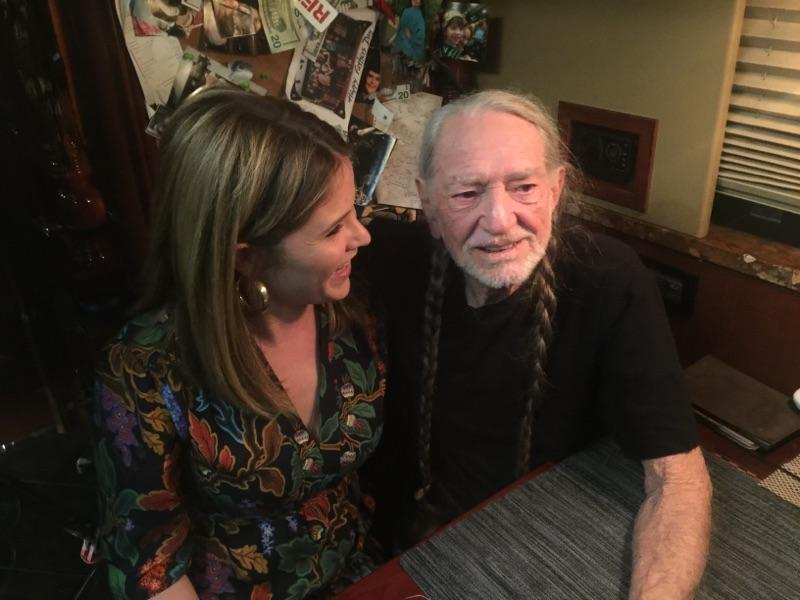 Willie Nelson and Jenna Bush Hager