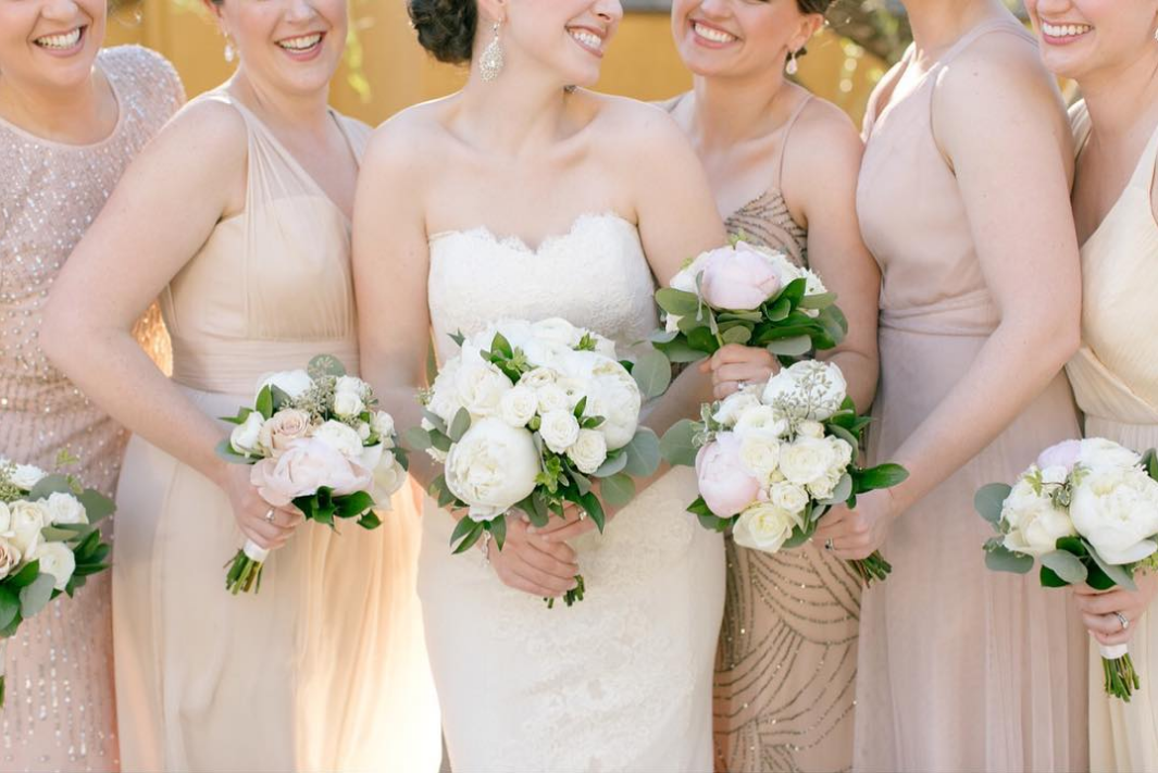 Peony Wedding Bouquets For The Bridesmaids