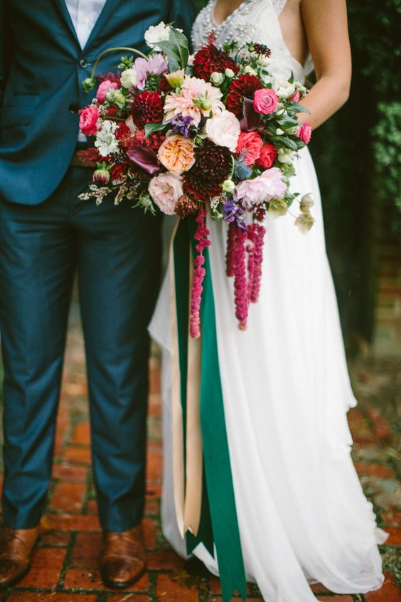 The Top Wedding Trends for 2017 Saturated Color