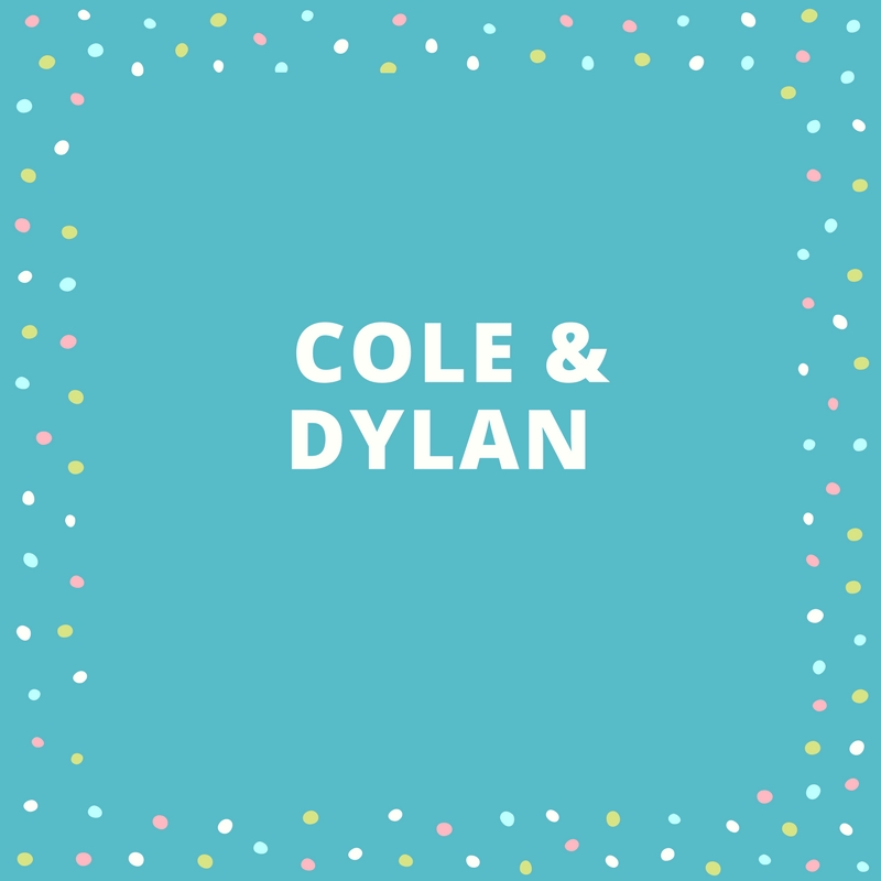 Twin Names: Cole and Dylan
