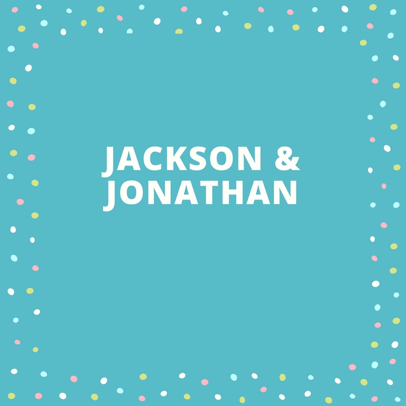 Twin Names: Jackson and Jonathan