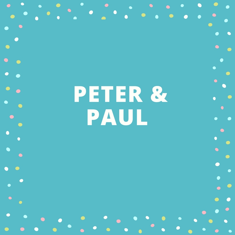 Twin Names: Peter and Paul
