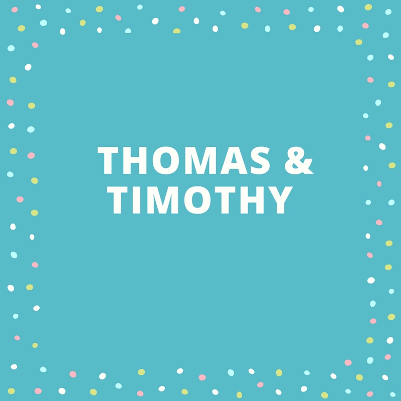 Twin Names: Thomas and Timothy