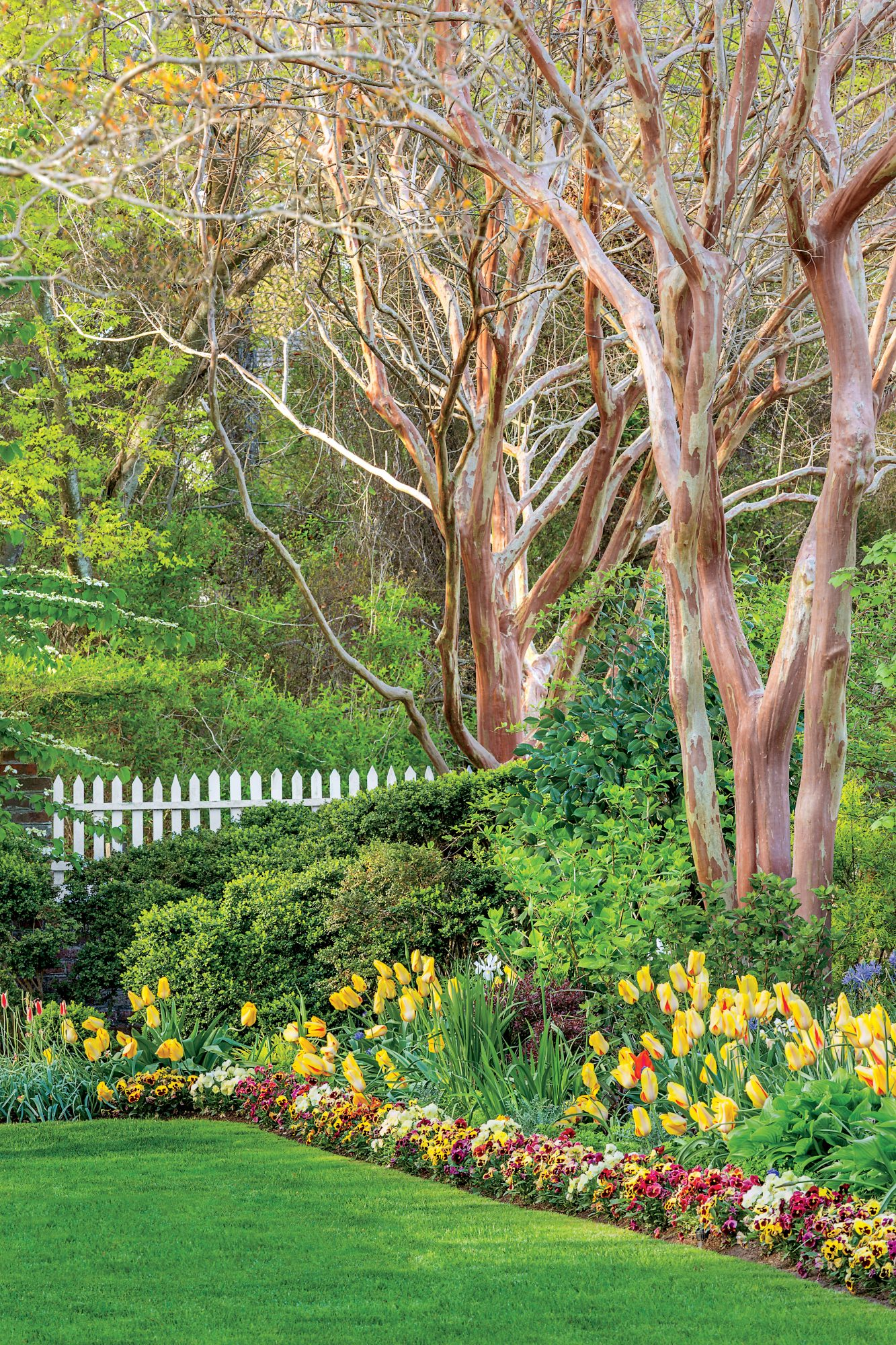 The Spring gardens at Eyre Hall, in Cheriton, Virginia.