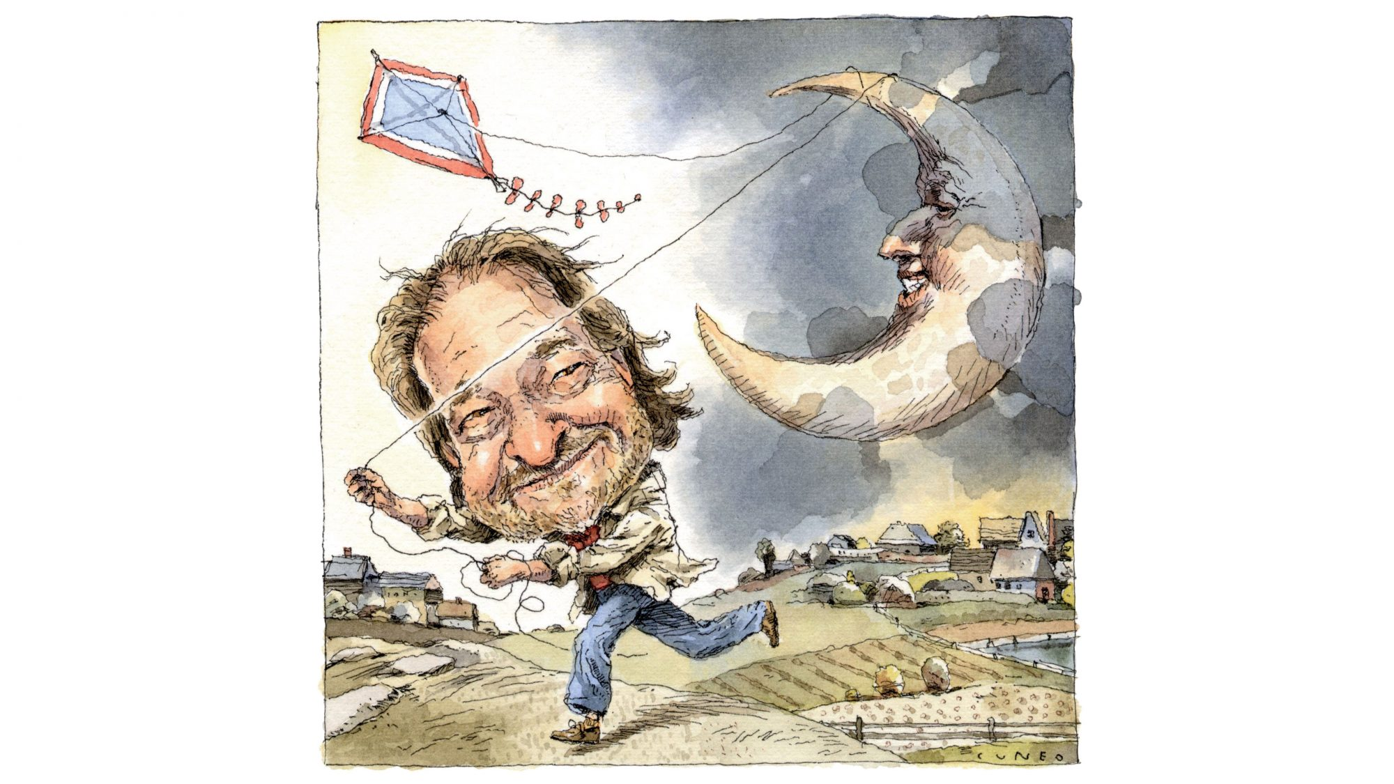 Rick Bragg Flying Moon as Kite