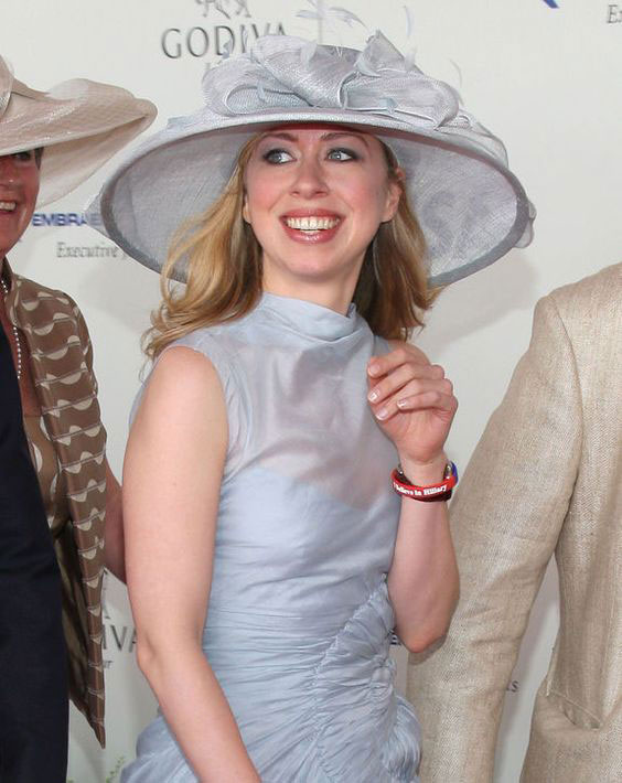 Chelsea Clinton at the Kentucky Derby