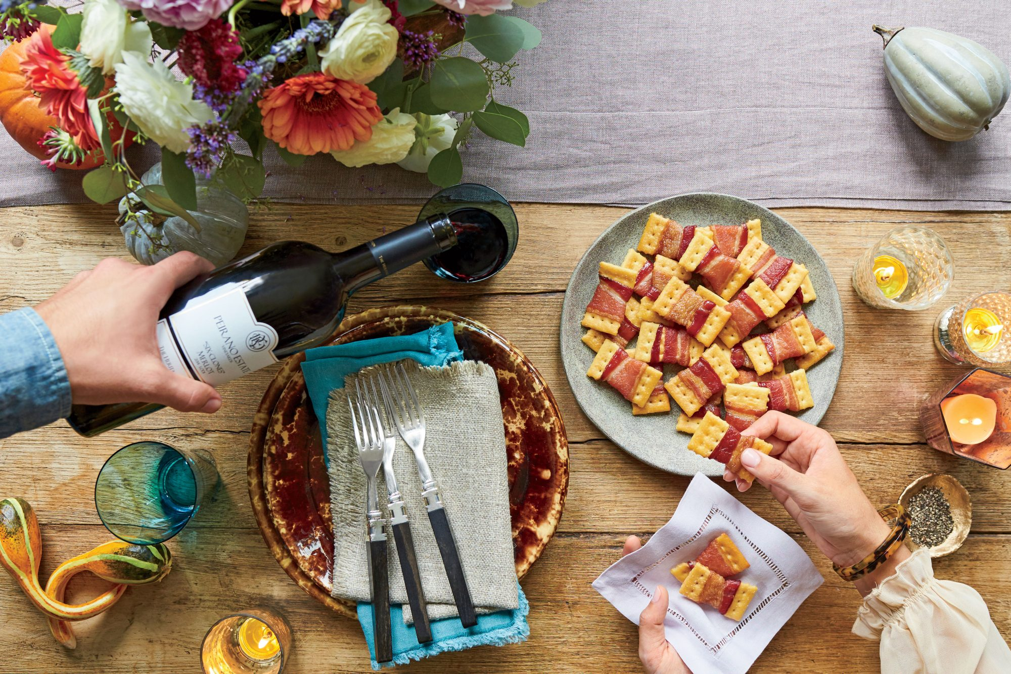 bacon bow tie crackers recipe southern living