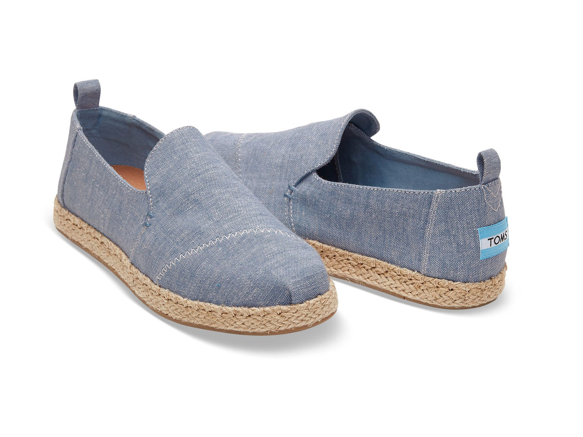Toms Chambray Deconstructed Alpargatas