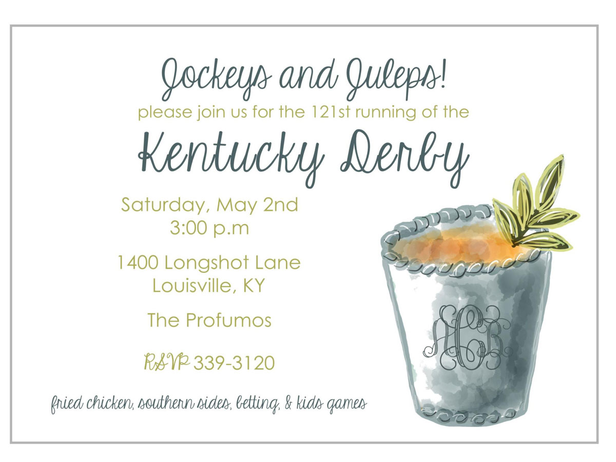 7 Stylish Picks for Your Kentucky Derby Party Southern Living – Derby Party Invitations
