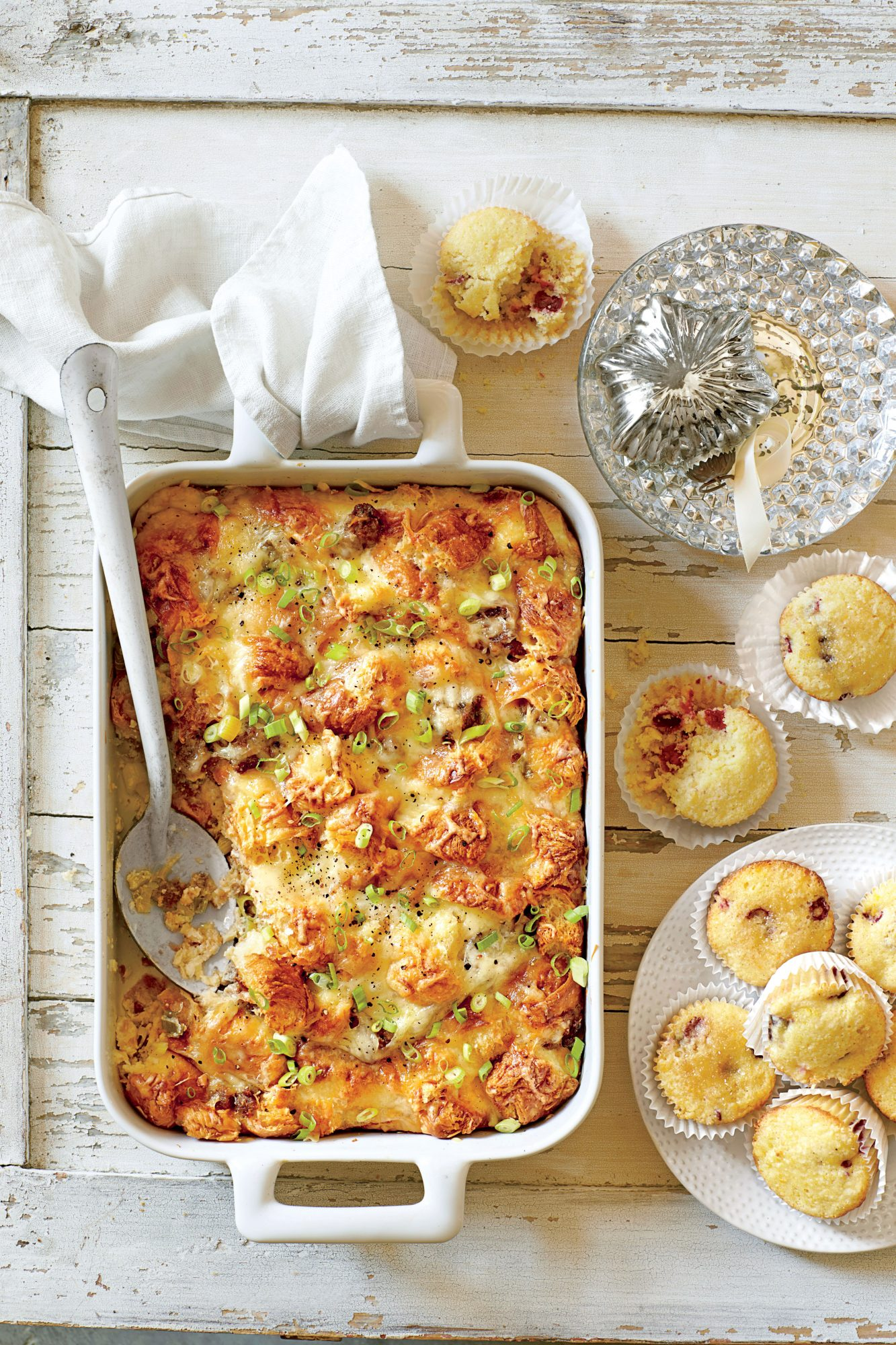 Cheesy Sausage-and-Croissant Casserole