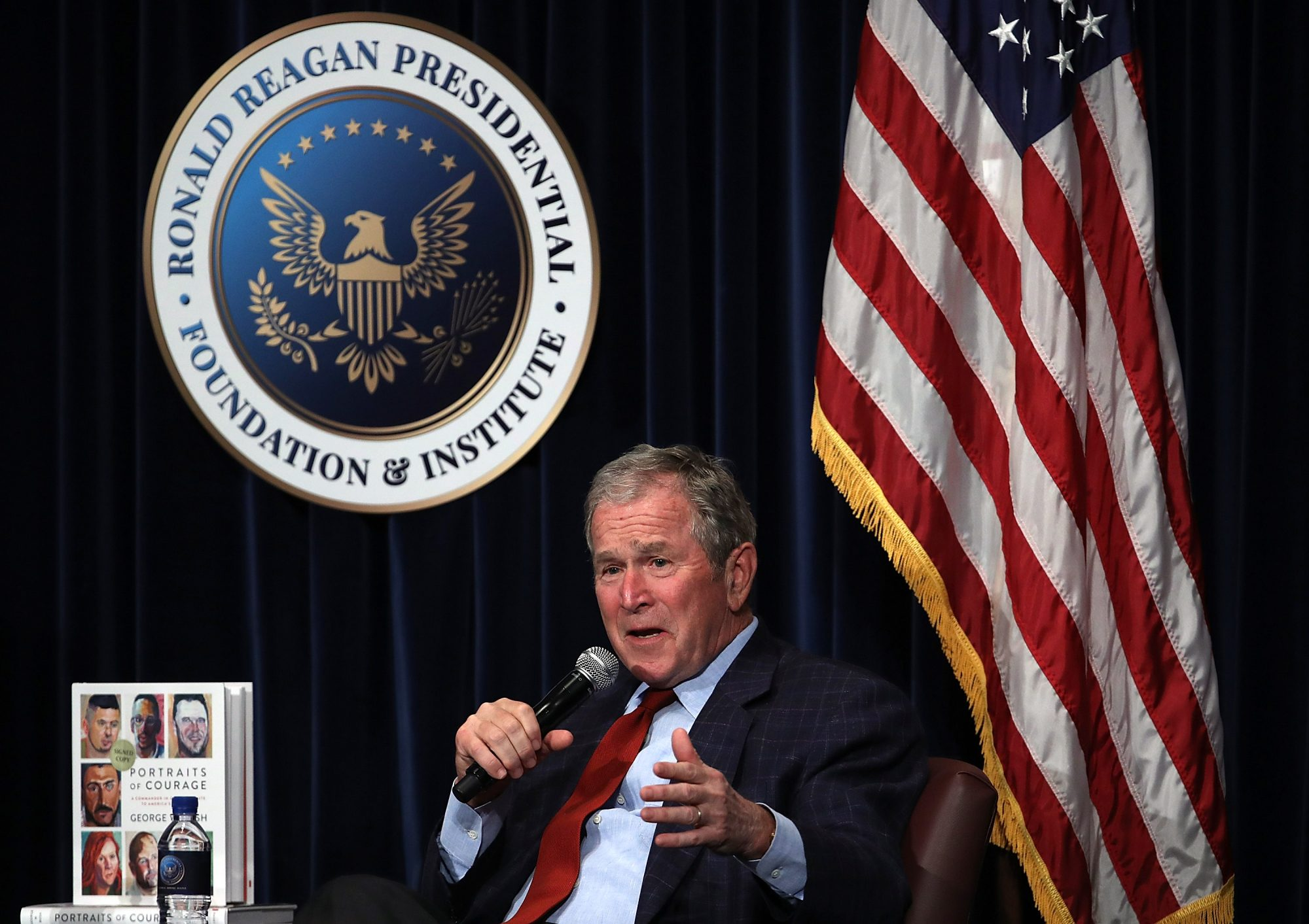 George W. Bush Discussing Portraits of Courage Book