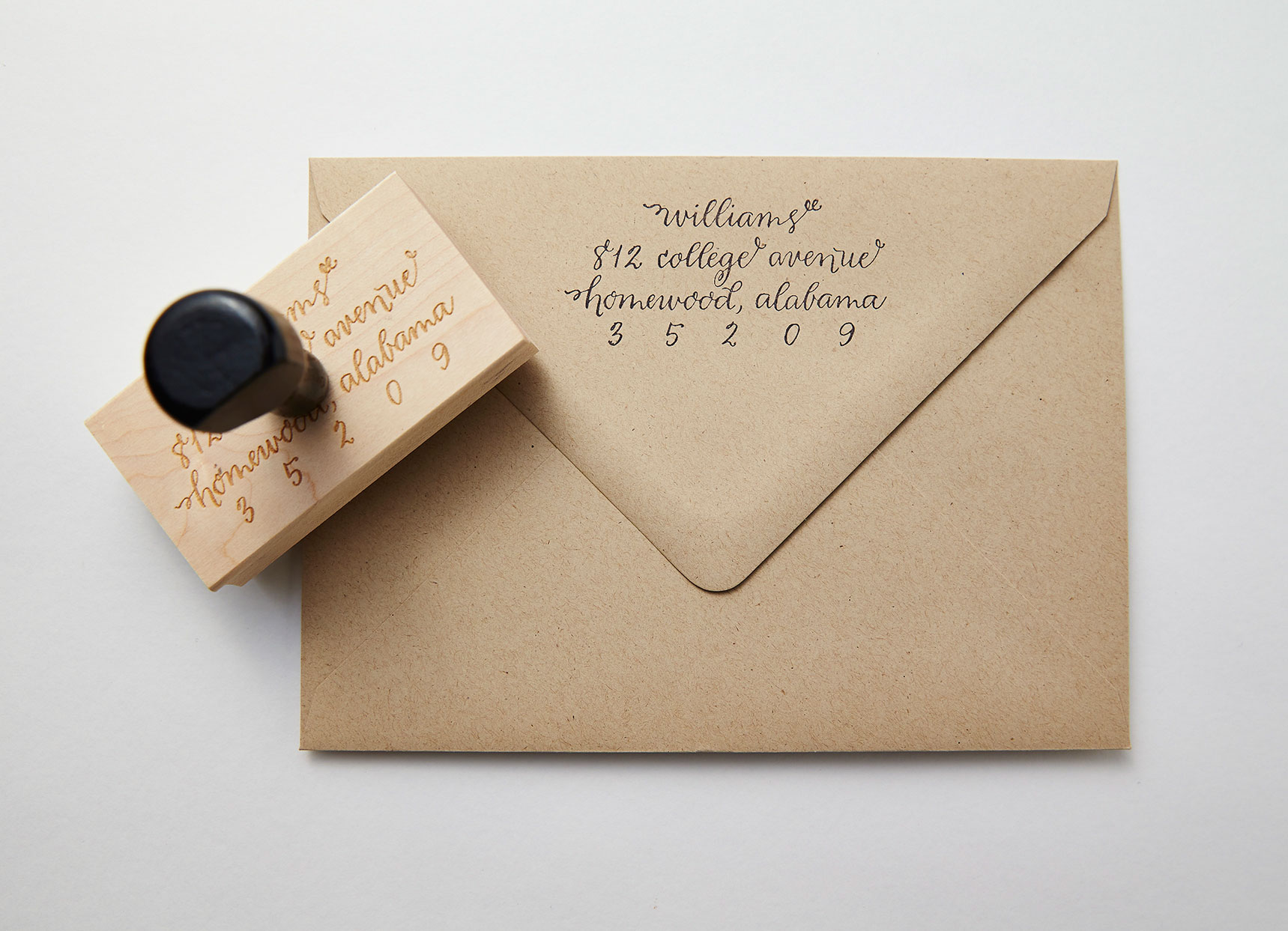 Calligraphy Return Address Stamp