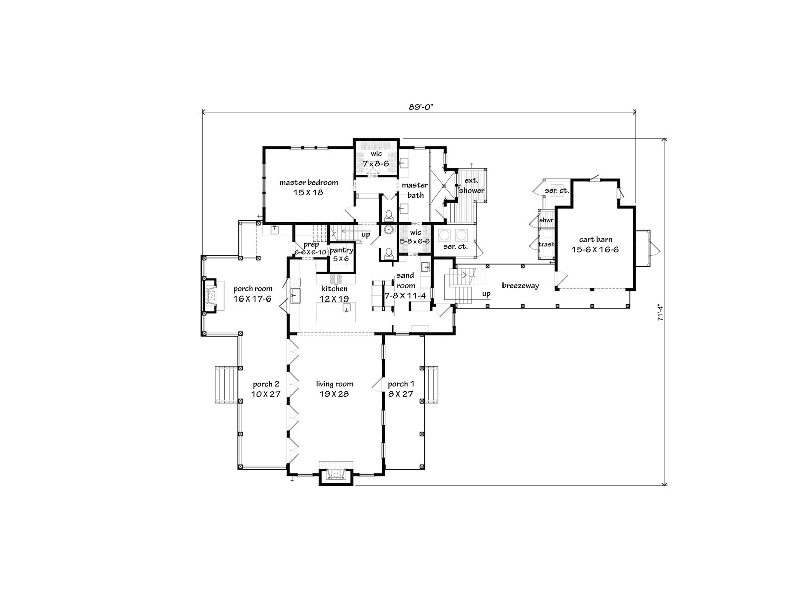 Cottage floor plans southern living thefloors co for Main street homes floor plans