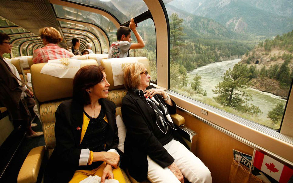 Women Riding Through Rocky Mountaineer