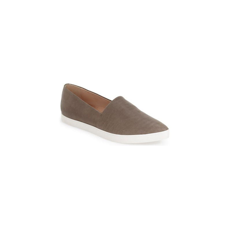 Nickel Leather Slip-on Seakers