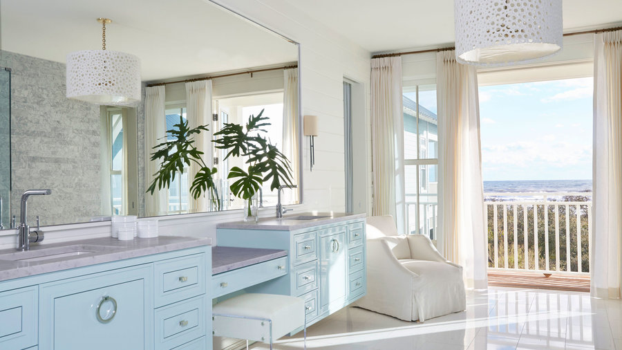 Master Bathroom with View of Ocean
