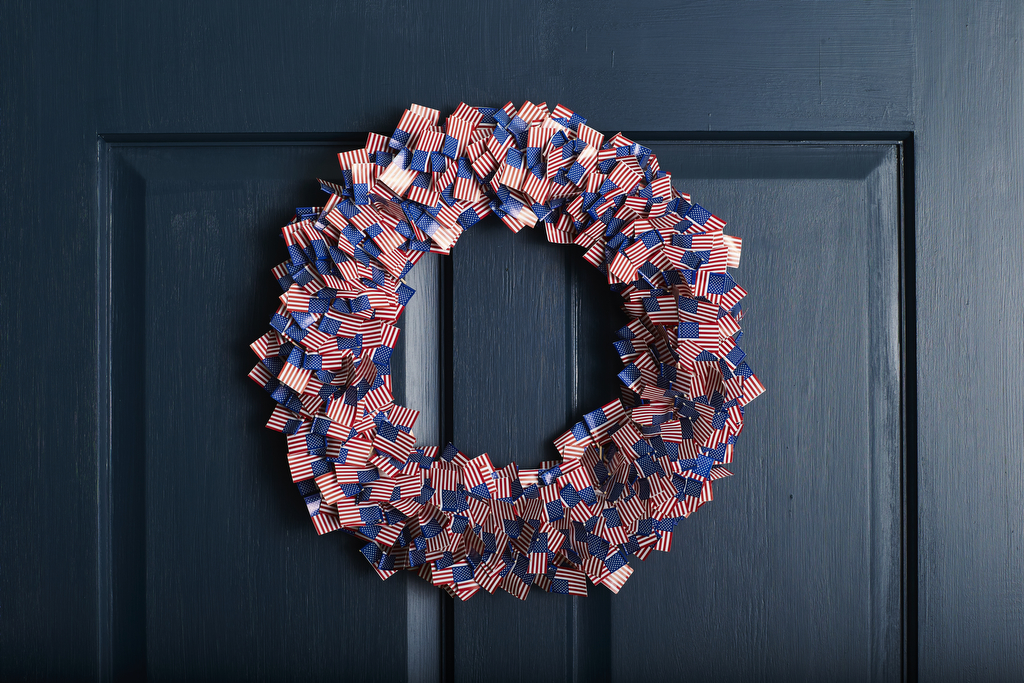 Mini Flag Burst Wreath