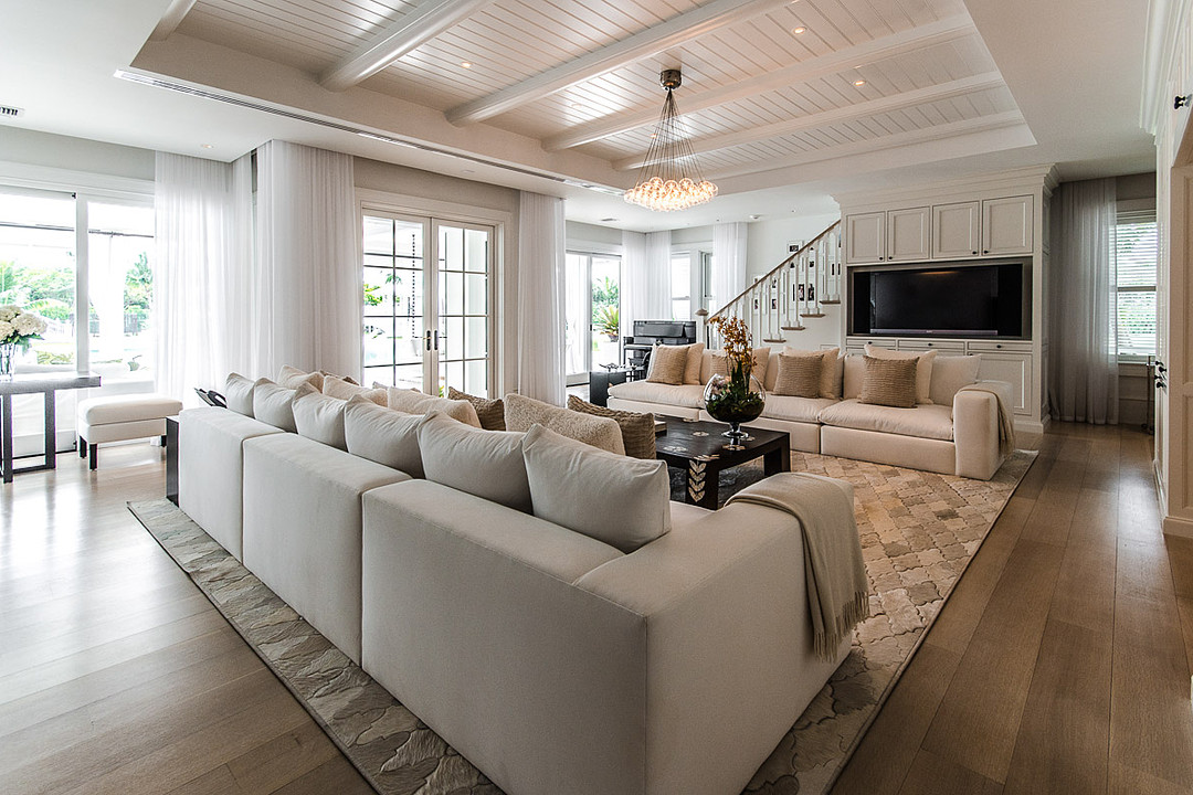 Céline Dion's Luxurious Florida Mansion: Living Room