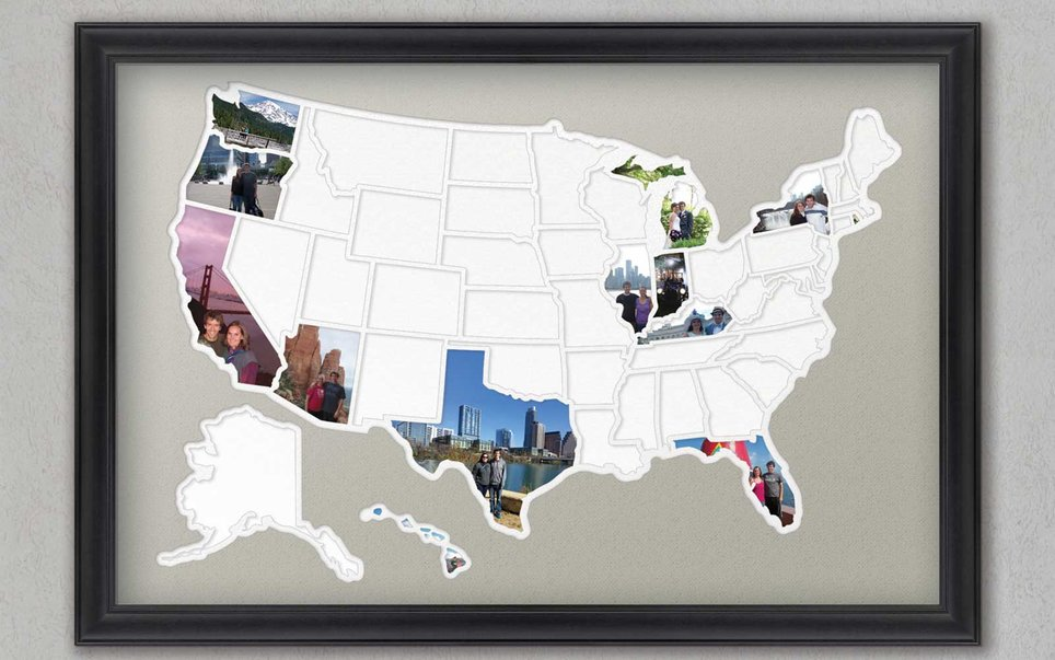 Fifty States Photo Frame