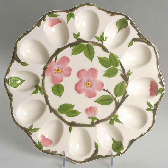 Franciscan Deviled Egg Plate Desert Rose
