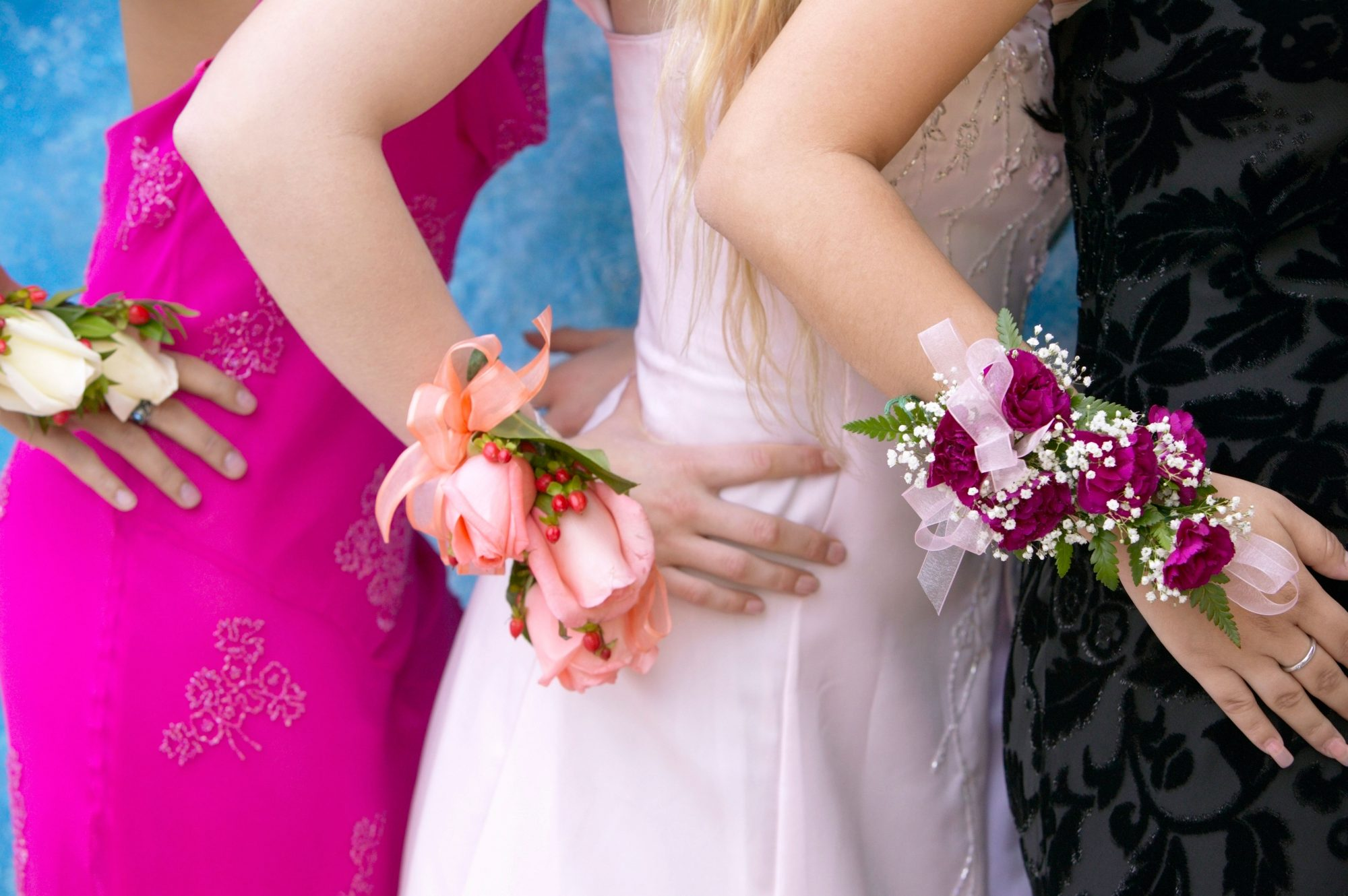 Getty Girls In Prom Dresses Corsage