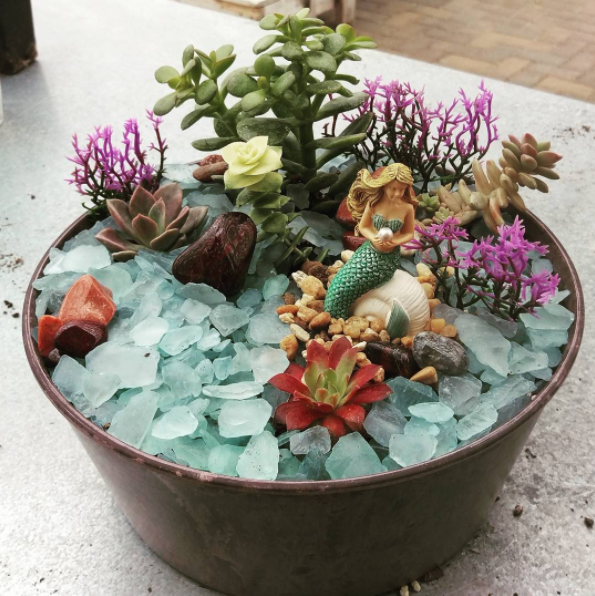 mermaid gardens are going to be your new favorite home dcor - Mermaid Home Decor