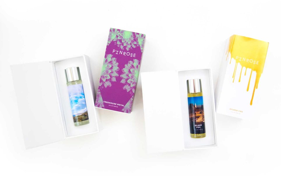 Personalize a perfume label