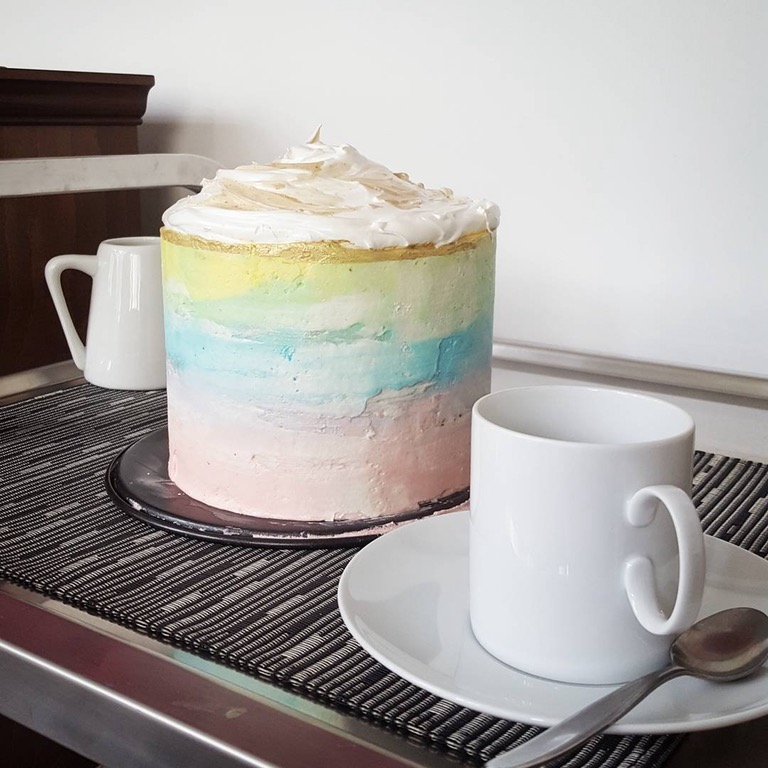 Viral Rainbow Coffee Cake