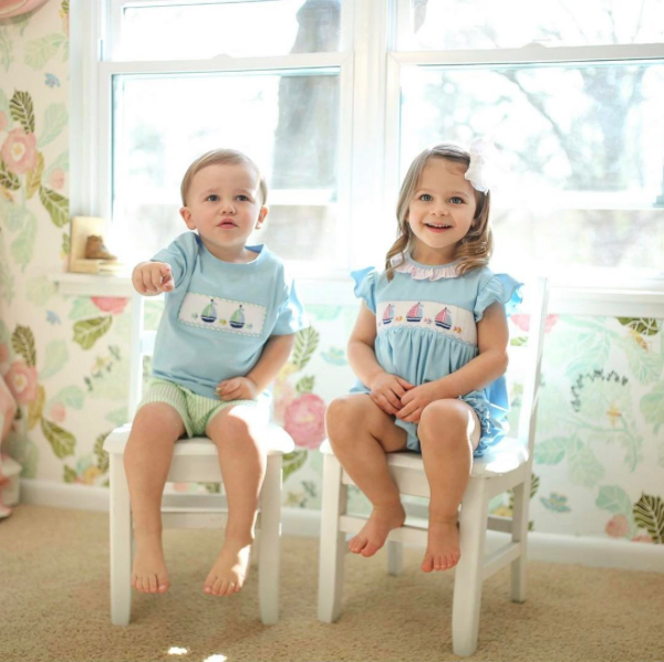 RX 1705 Southern Baby Clothes Smocked Threads by Cecil and Lou 7e496f7b1