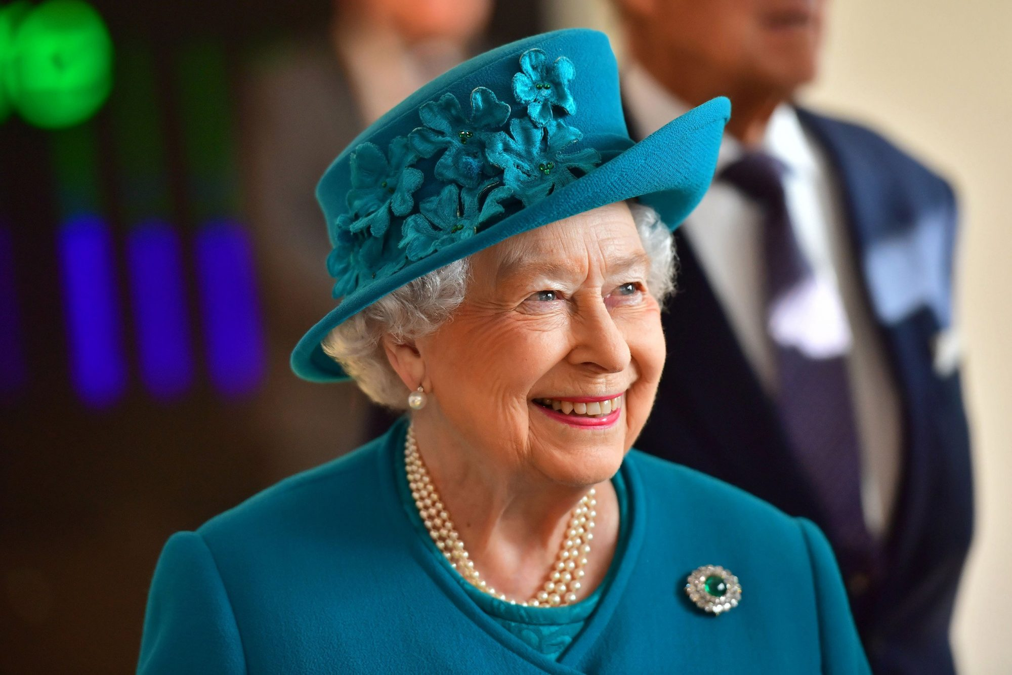 Queen Elizabeth II, arrives to attend the opening of the National Cyber Security Center in London, February 14, 2017.