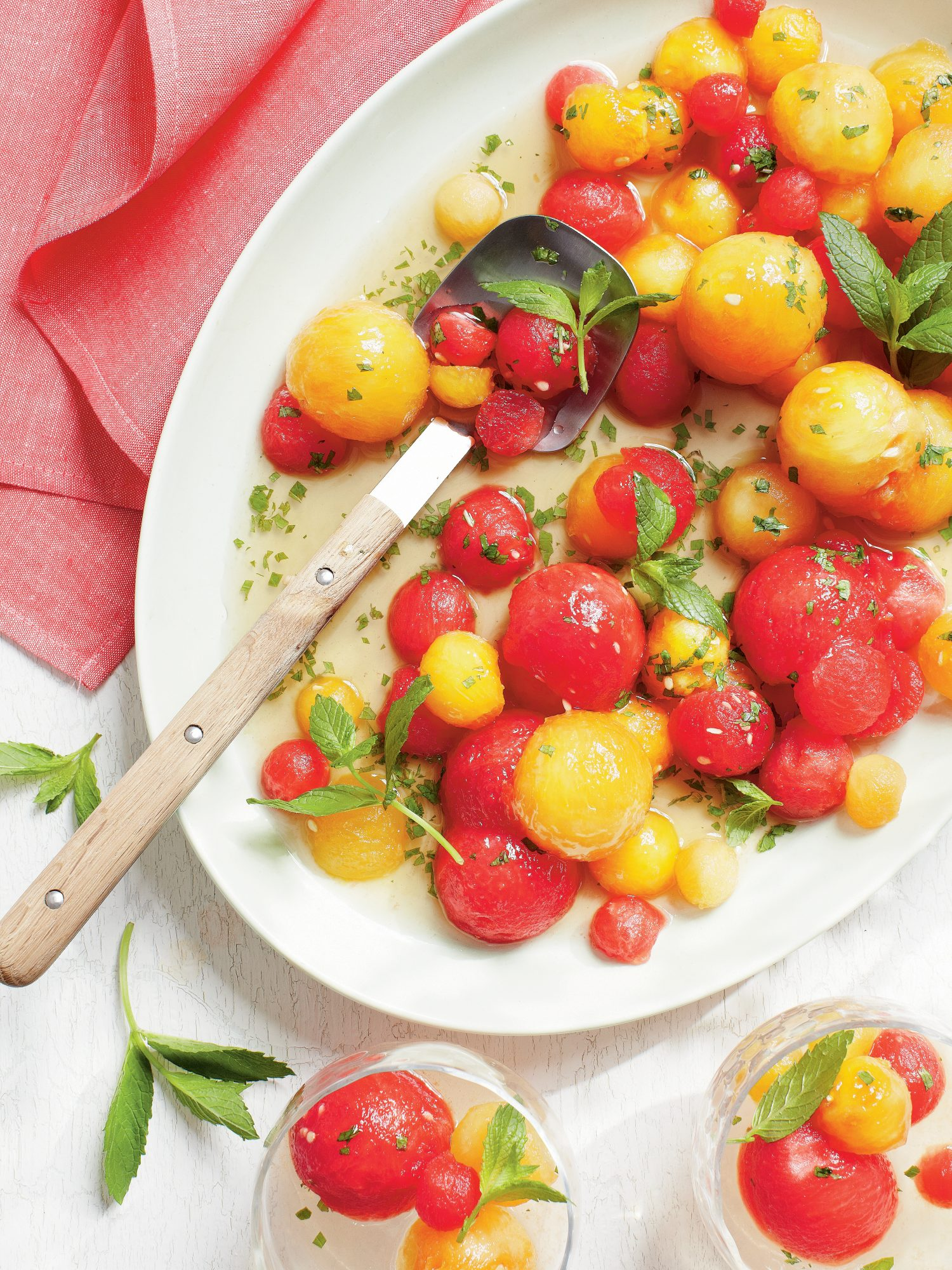 Tipsy Red-and-Yellow Watermelon Salad