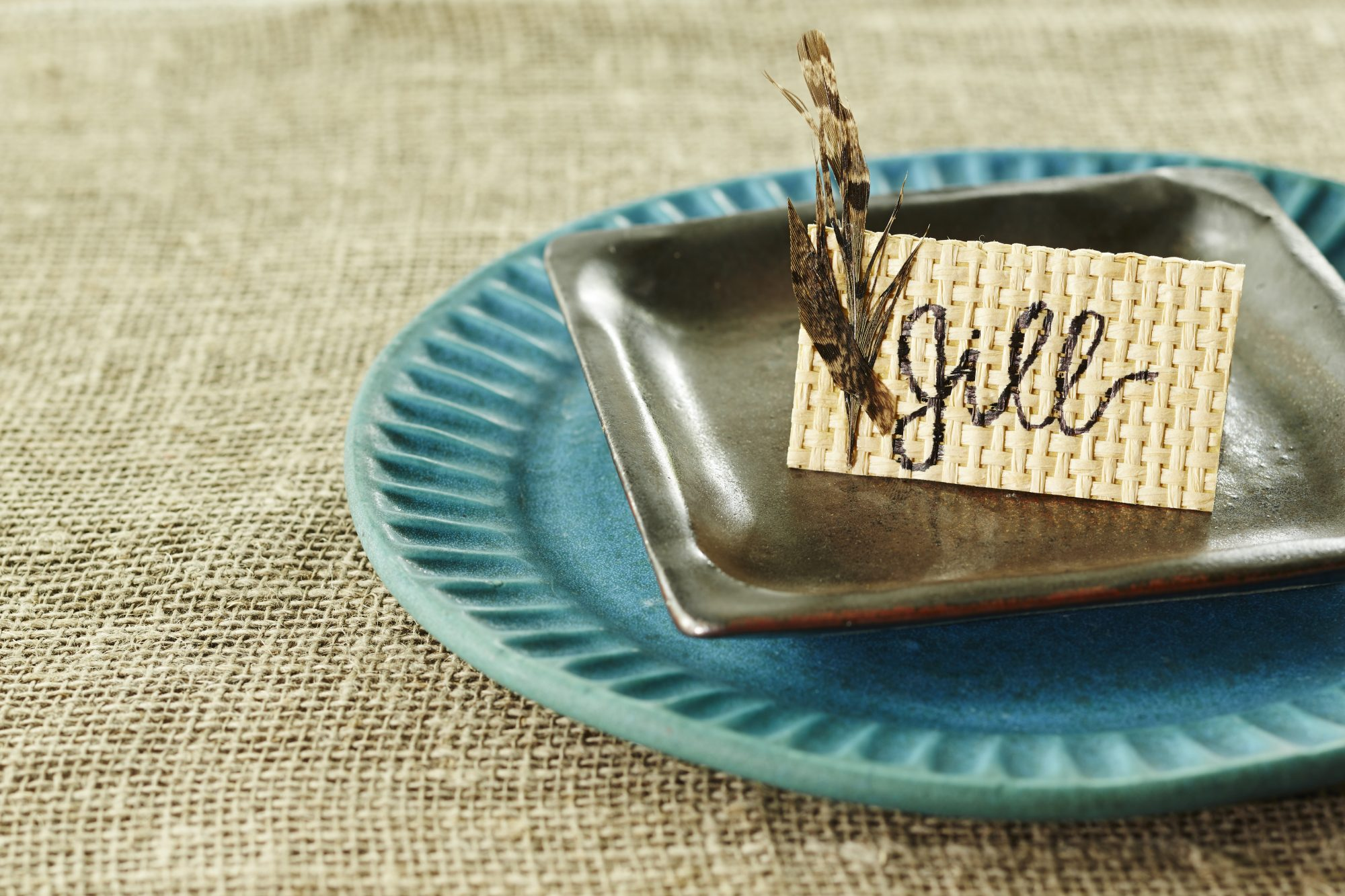 Place Cards with Natural Textures