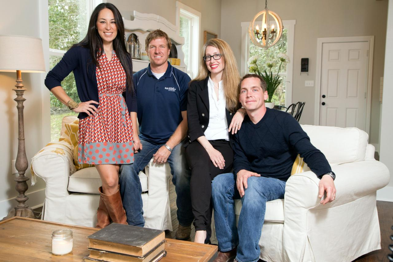Clint and Kelly Harp with Chip and Joanna Gaines