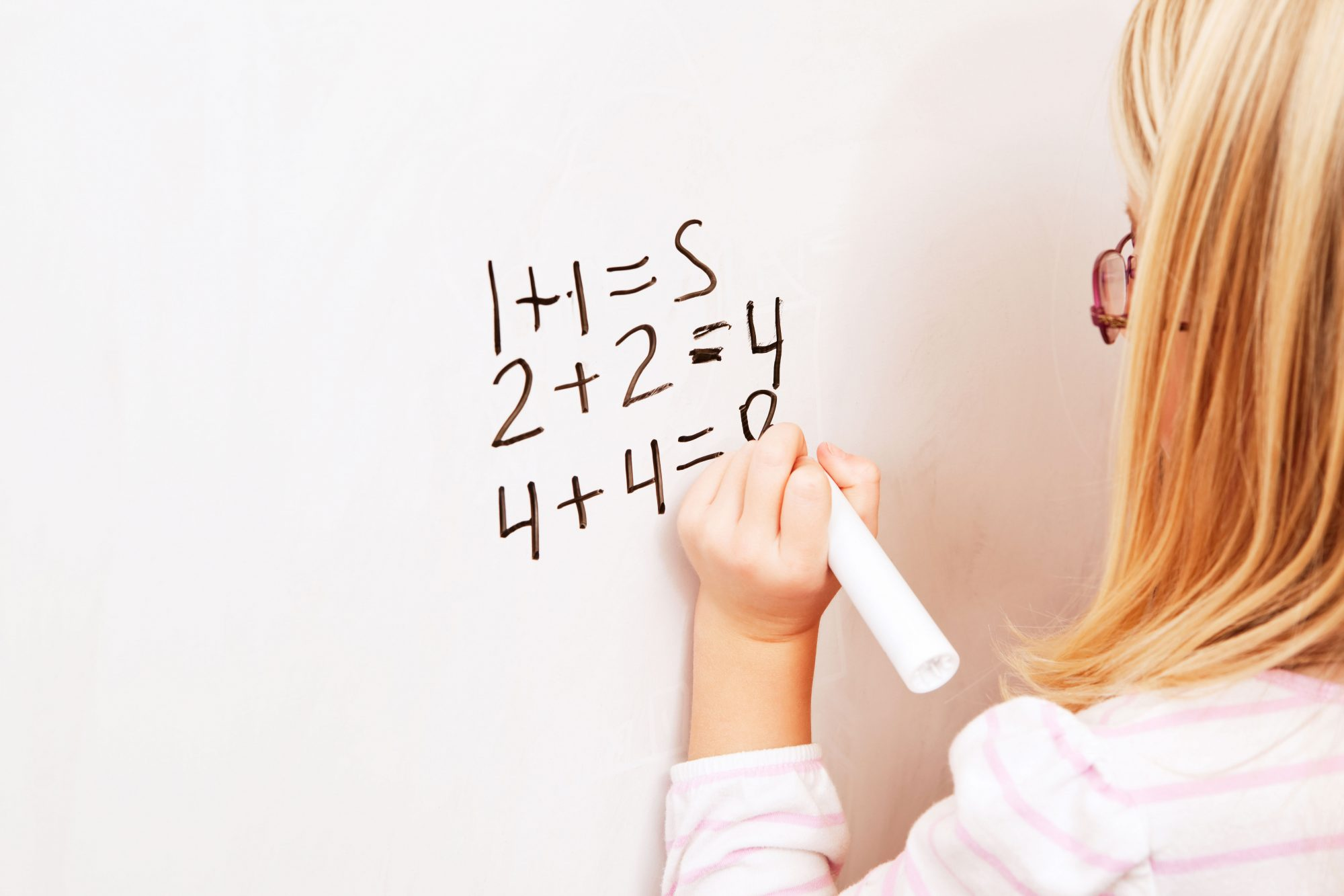 Girl Writing with Left Hand