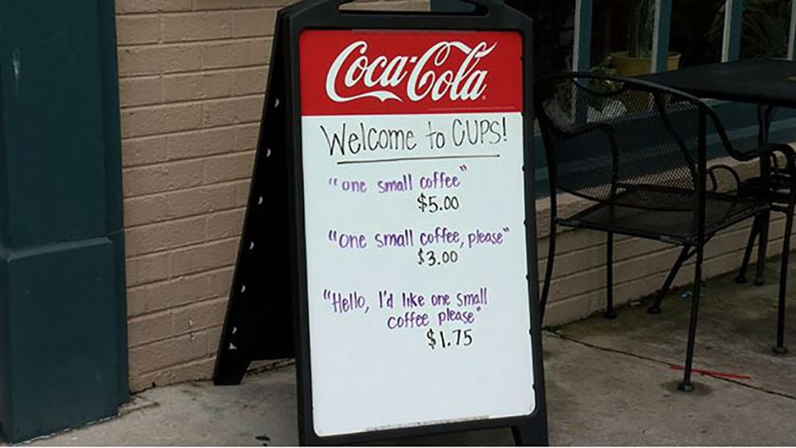 Coffee Shop Sign