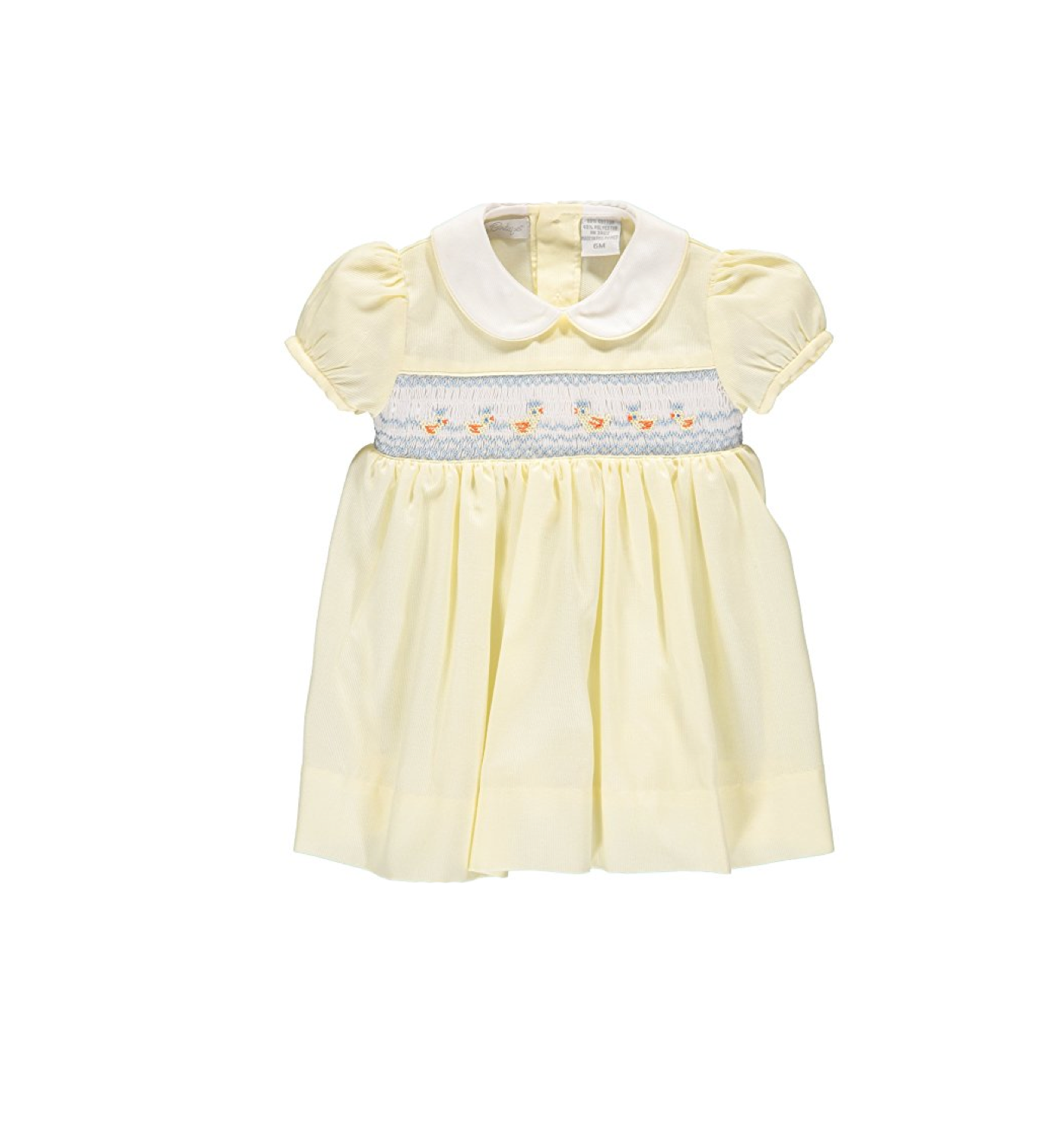 Classic Hand Smocked Dress with Yellow Spring Ducks