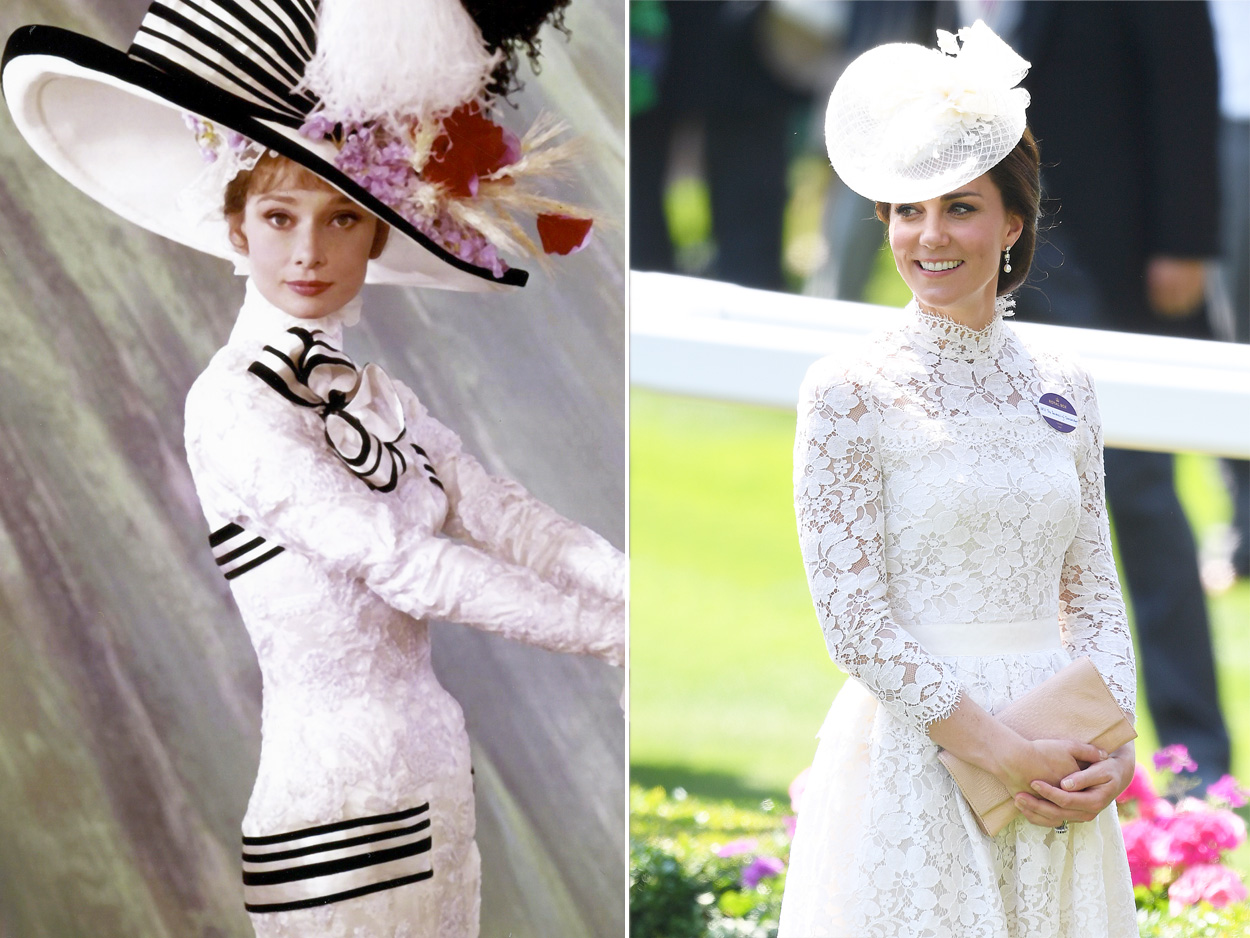Audrey Hepburn and Kate Middleton