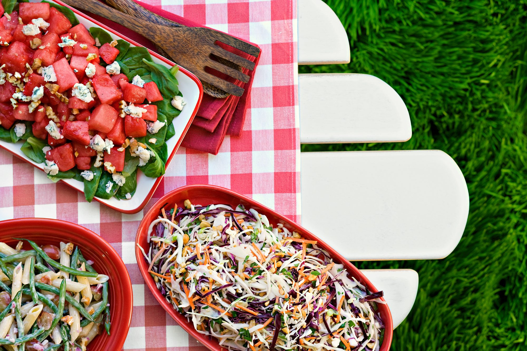 Watermelon, Mache, and Pecan Salad