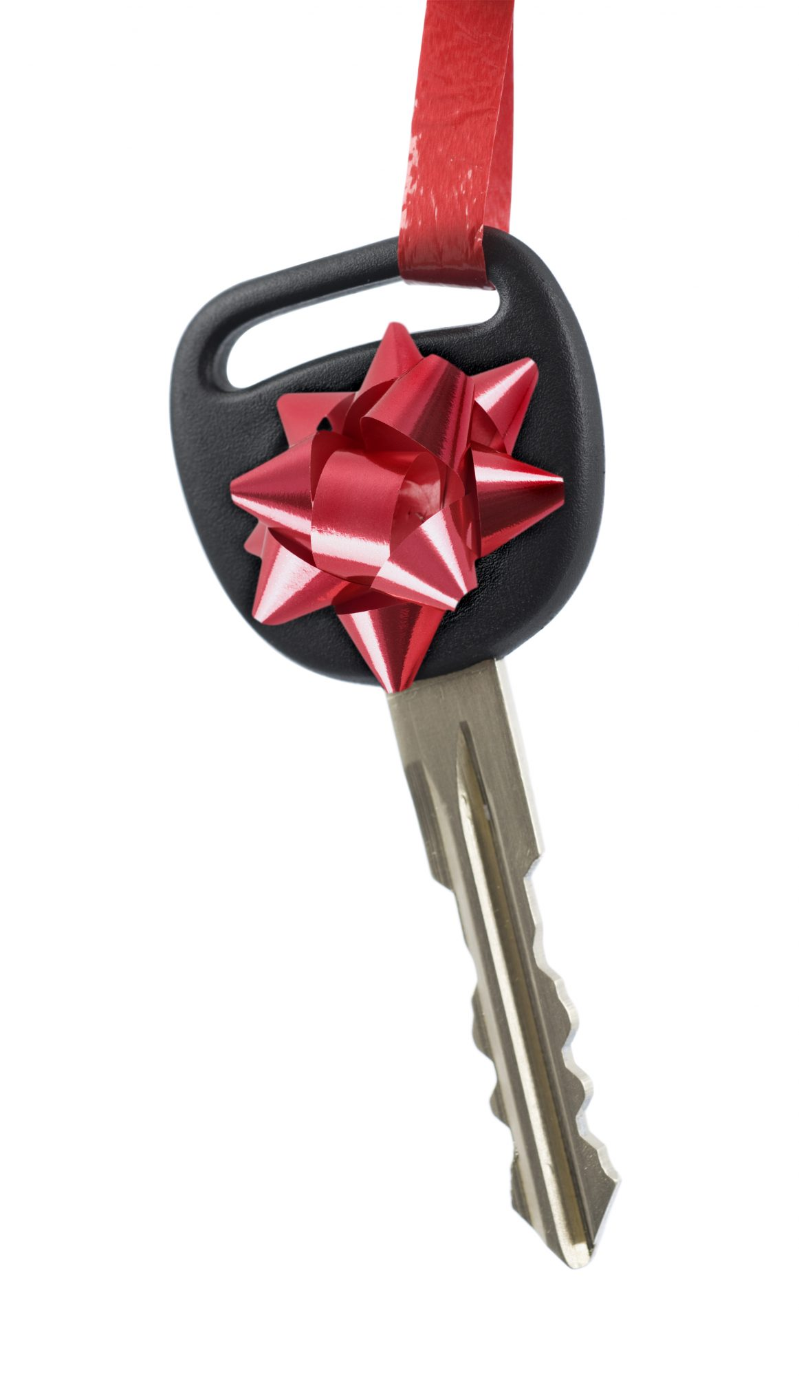 car key red bow