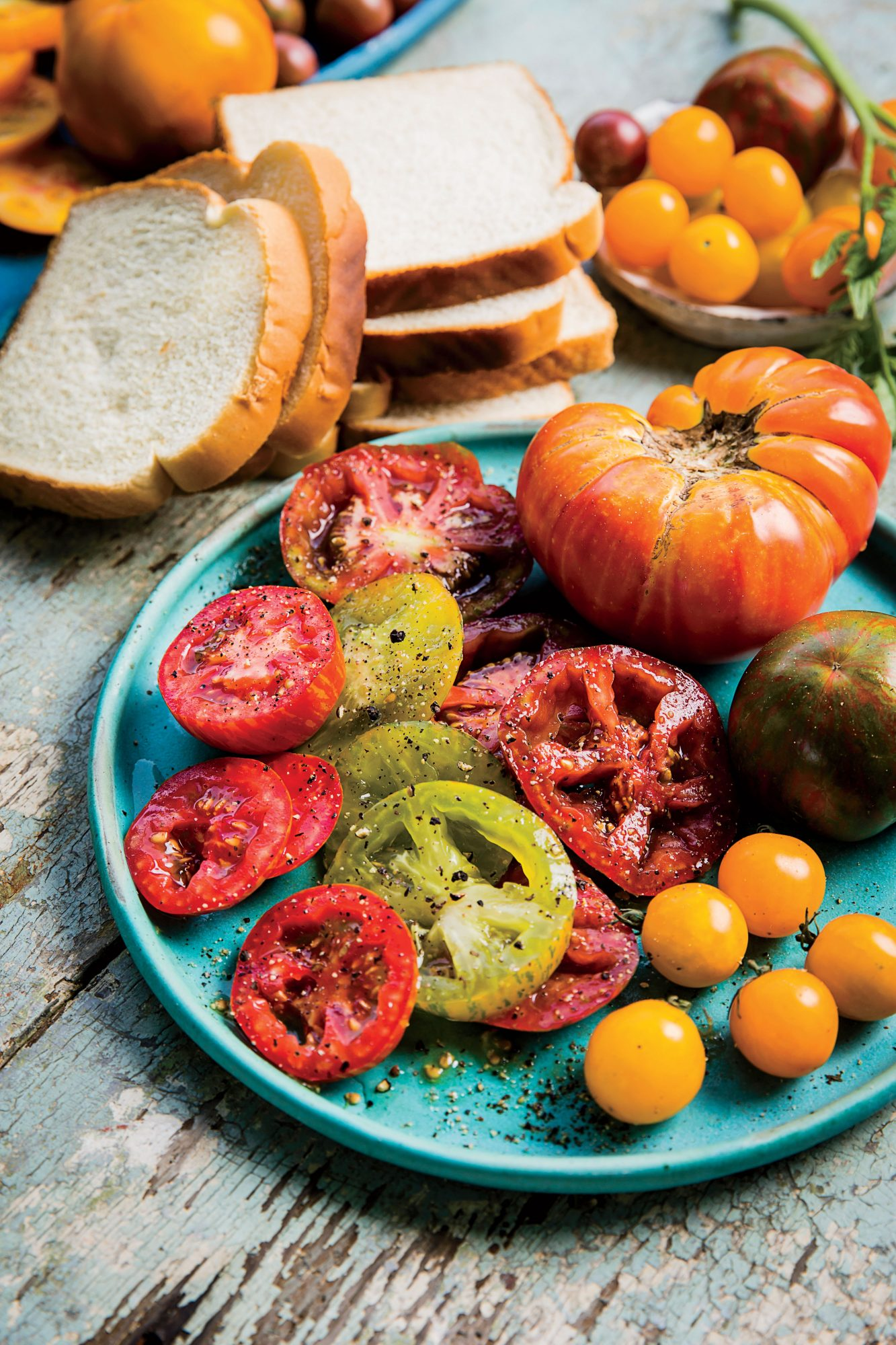 Rodger Winn Heirloom Tomatoes Sliced
