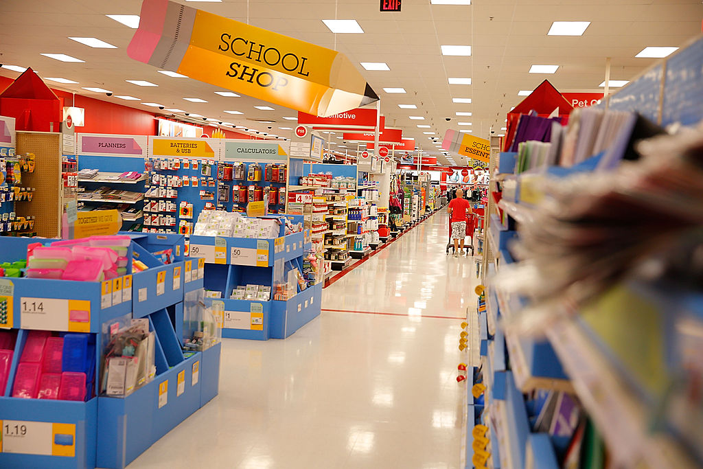 WEST HOLLYWOOD, CA - JULY 31:  Soleil Moon Frye goes back-to-school shopping at Target on July 31, 2014 in West Hollywood, California.  (Photo by Joe Scarnici/Getty Images for Target)