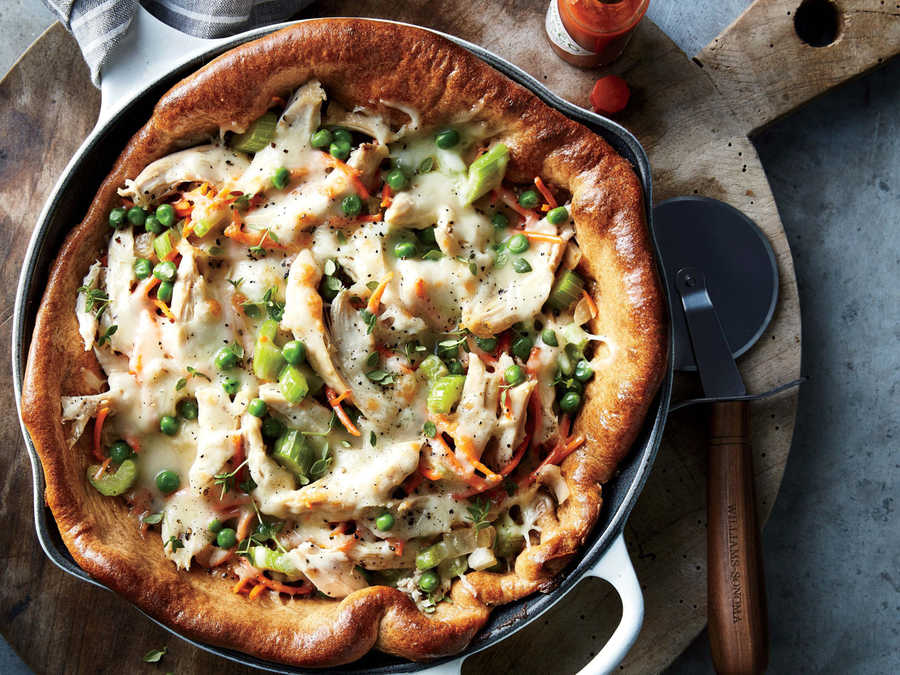 Chicken Pot Pie Skillet Pizza