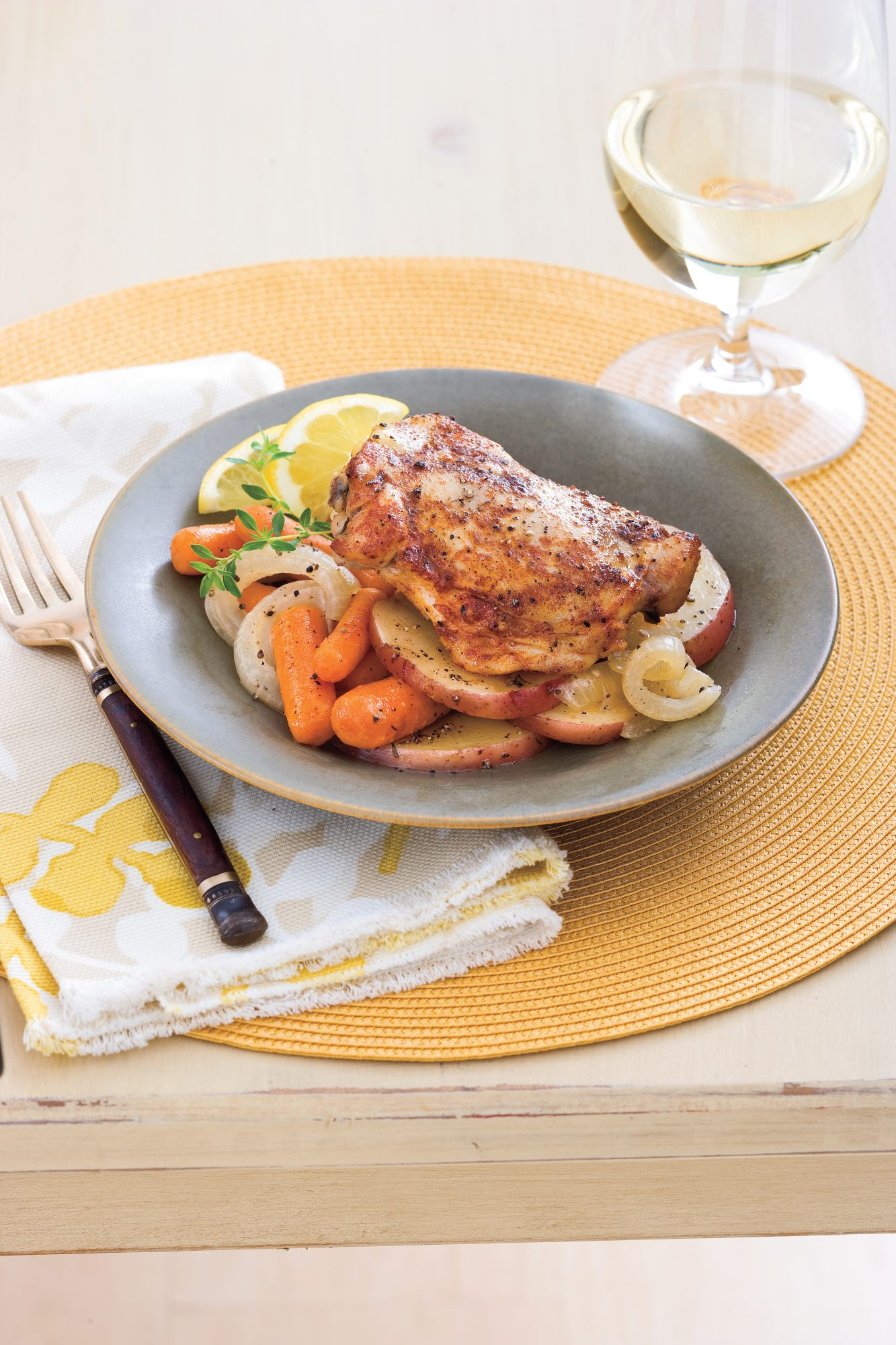 Slow Cooker Chicken Thighs With Carrots and Potatoes