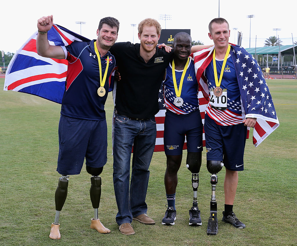 Prince Harry with Dave Henson