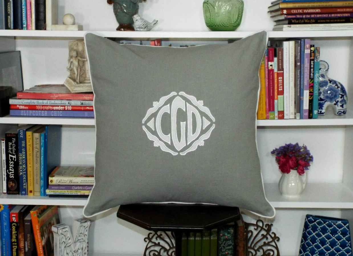 Applique Monogrammed Sham