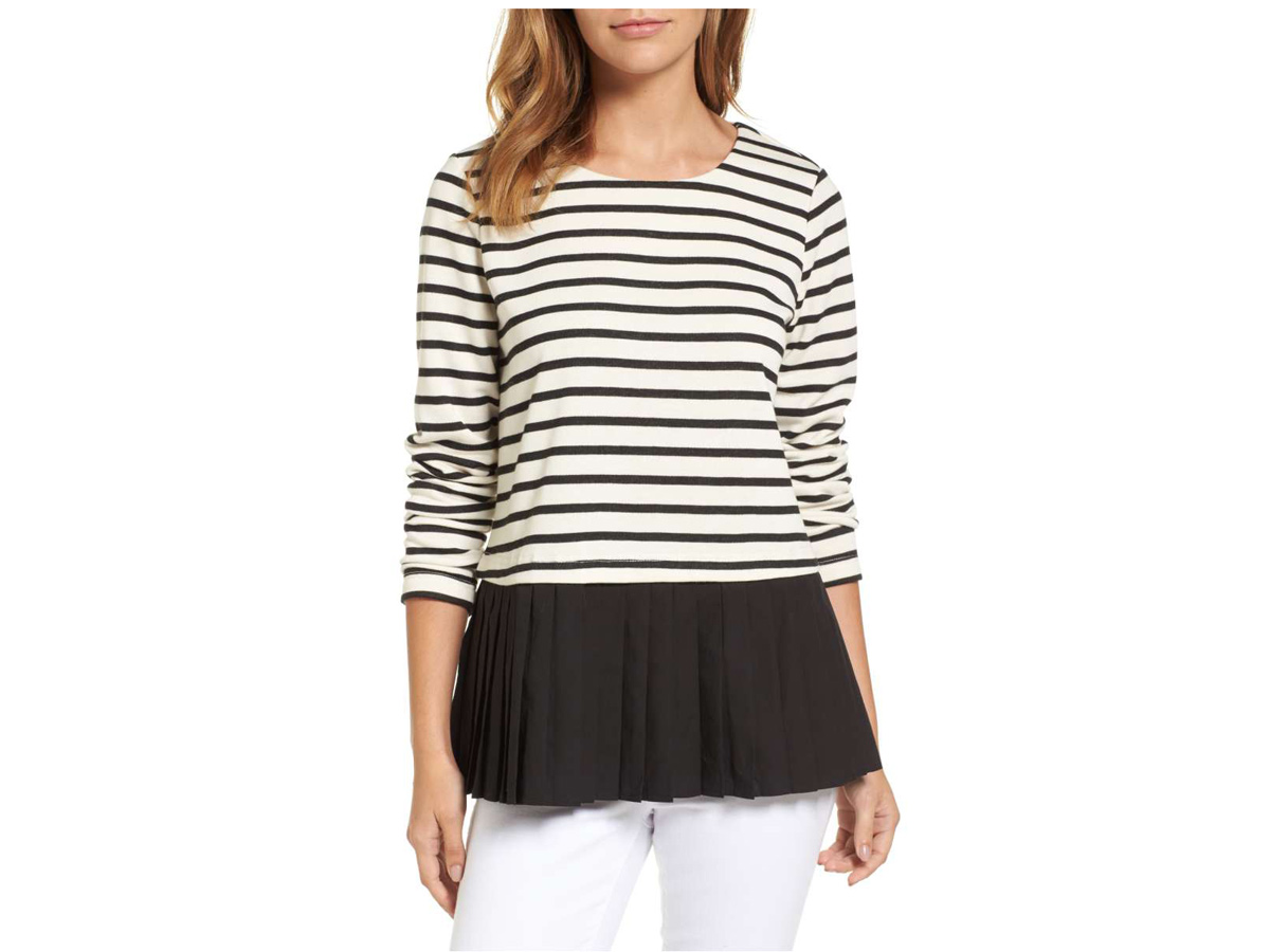 Pleat Insert French Terry Top