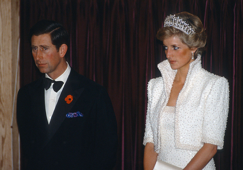 Princess Diana Wearing Lover's Knot Tiara