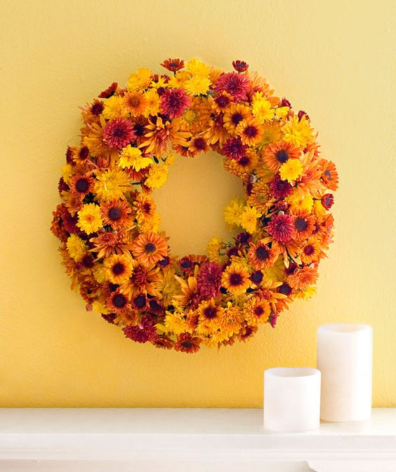 Incredible Ways to Decorate with Mums Make a Wreath