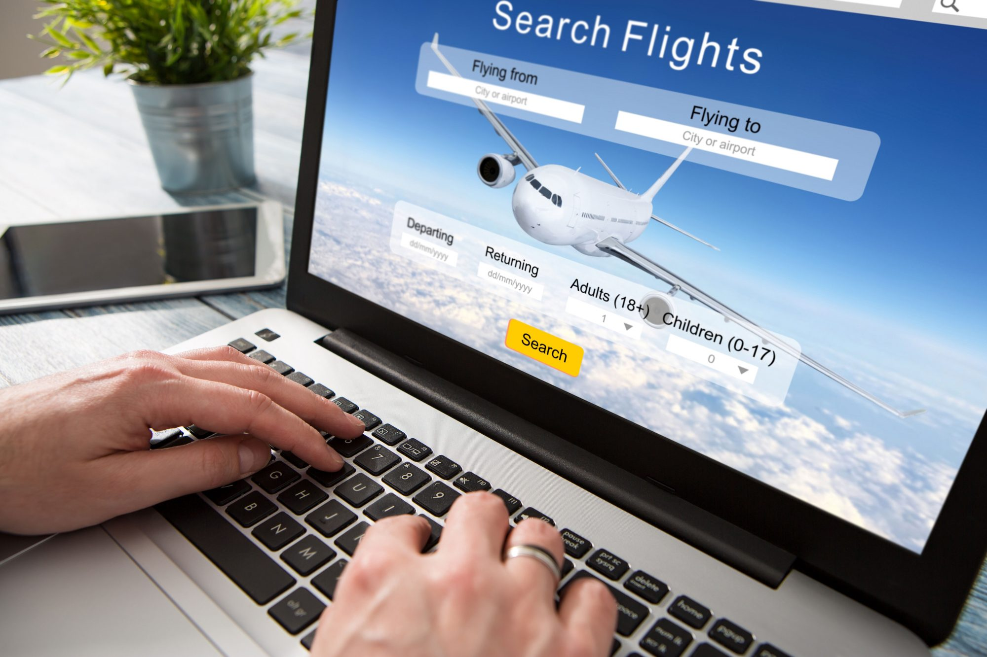 Booking Flight Reservation Computer
