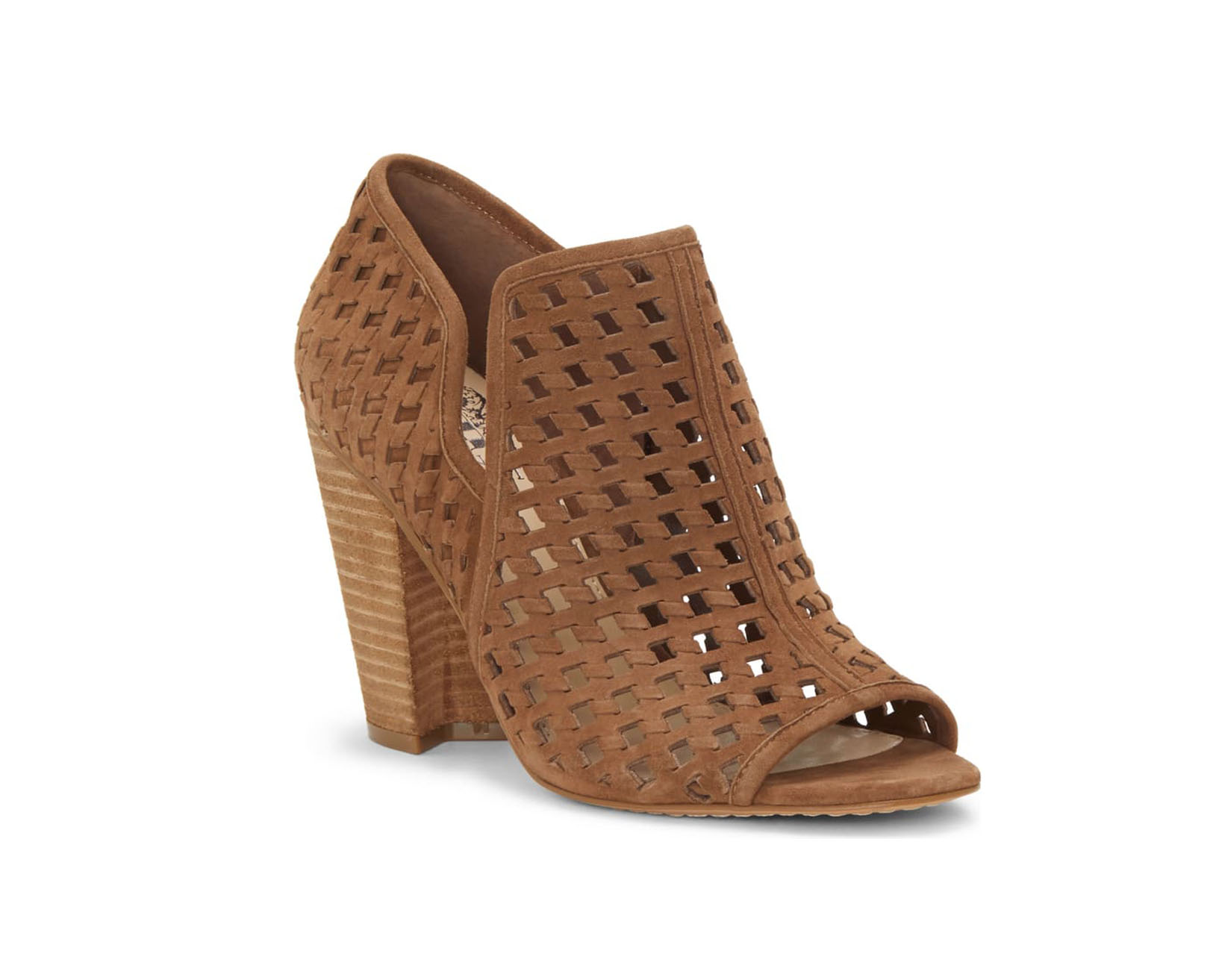 Vince Camuto Perforate Peep Toe Bootie